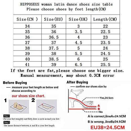 Zapatos Danza Zapatos Muchachas de de de Satén de HIPPOSEUS Modelo XGG201 Danza La Leopardo Las Las de Zapatos Latinos de ES Mujeres La Danza Cabrito del del La Salón Zapatos dPtqq4w