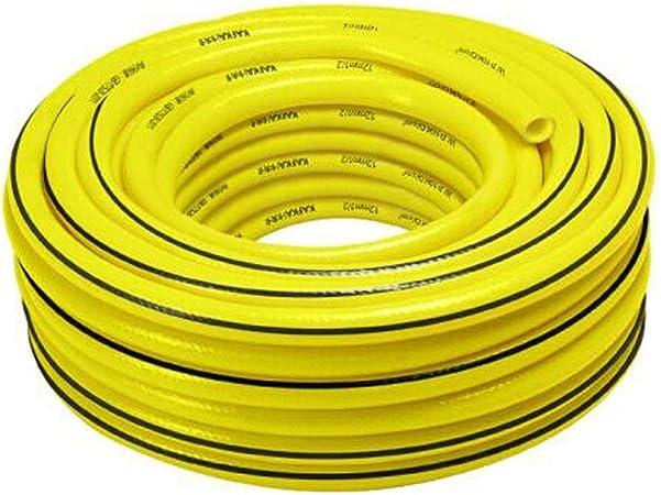 Mangueras de jardín jardinería Riego Riego Boquillas Verter verduras de goma plástica de PVC manguera de jardín 4 Puntos manguera de PVC de 100 metros Utilización de riego Equipmenttion flexible Herra: Amazon.es: