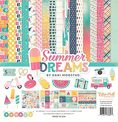 Echo Park Paper Company DR126016 Summer Dreams Collection Kit (Summer Echoes)