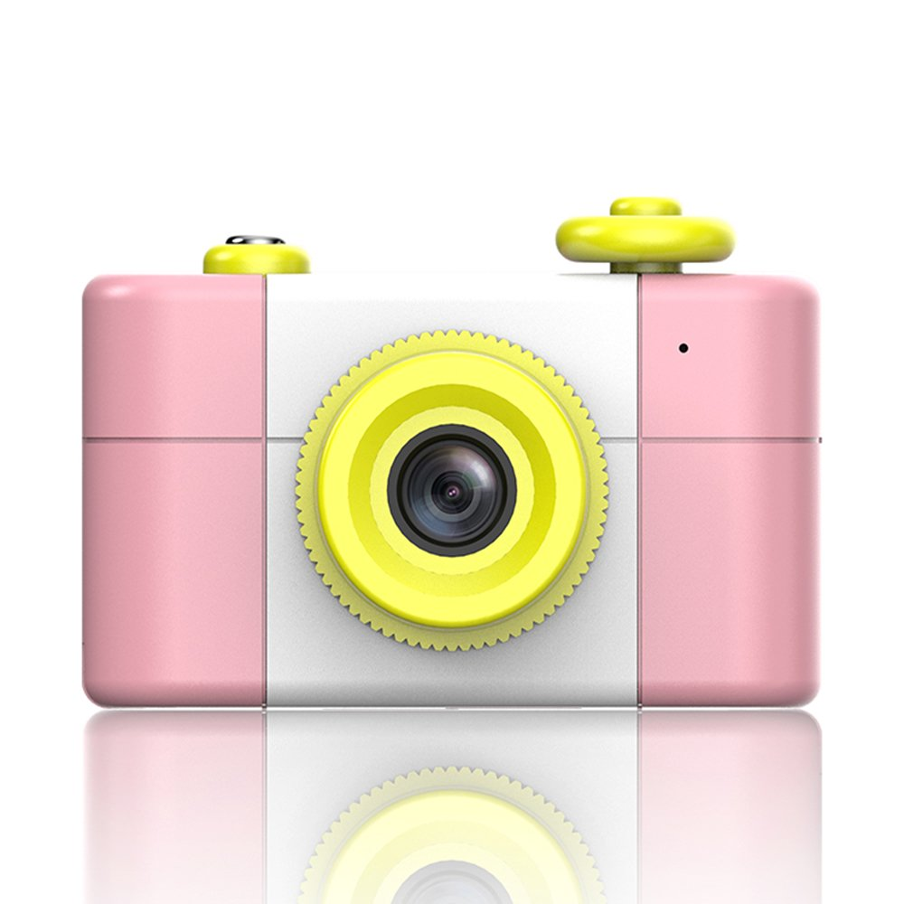 GWJ Cámara Digital Niños, Mini Cámara De 1,5 Pulgadas Para Niños,Pink