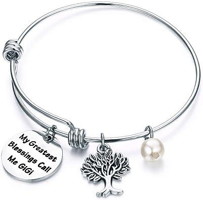 Gift for GIGI Gigi Bangle Bracelet My Greatest Blessings Call Me Gigi Bracelet Gift Gigi Birthday Gift Christmas Gift for Gigi