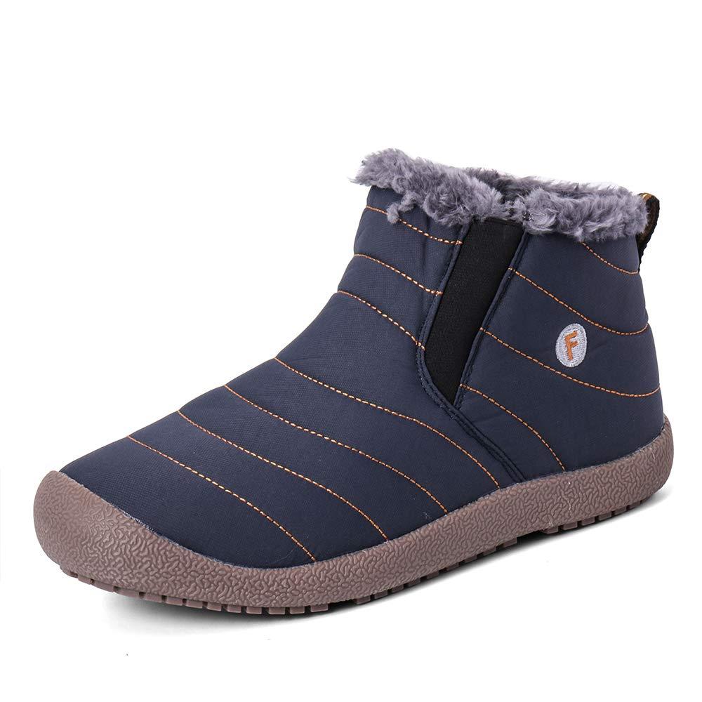 Zefani Unisex Waterproof Ankle Snow Boots Outdoor Winter Hiking Shoes