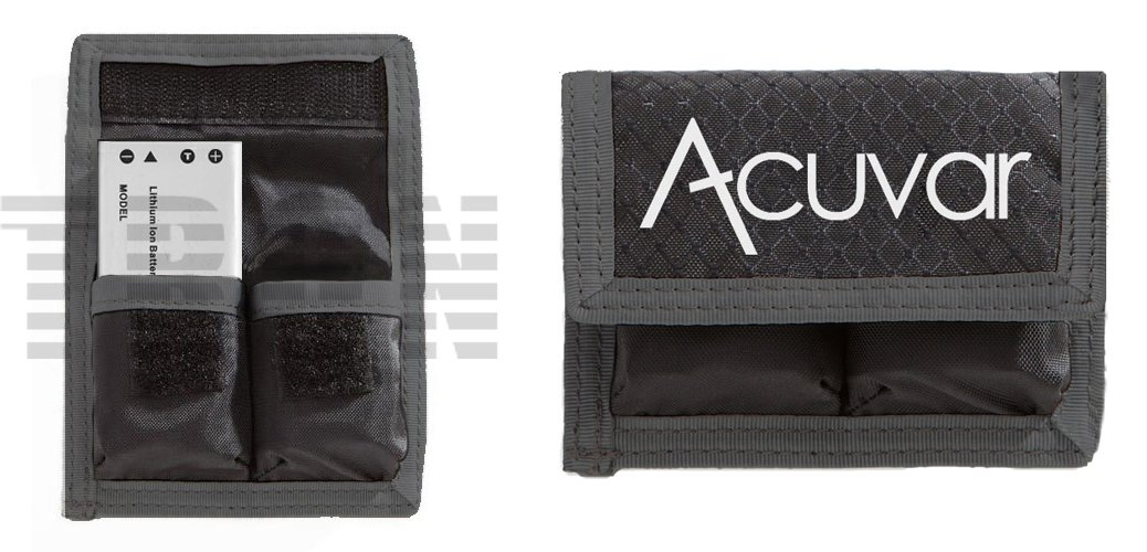 Acuvar Small Battery Pouch For Sony NP-BG1, NP-BX1, NP-N1, Canon NB-6L, NB-11L, Nikon EN-EL12, EN-EL19, Samsung EA-BP70A, SLB-10A, Olympus LI-42B, LI-50B, LI-70B, LI-90B, Fujifilm NP-45, NP-48, NP-50, NP-95, NP-85, Panasonic DMW-BCM13 &More TronixPouch