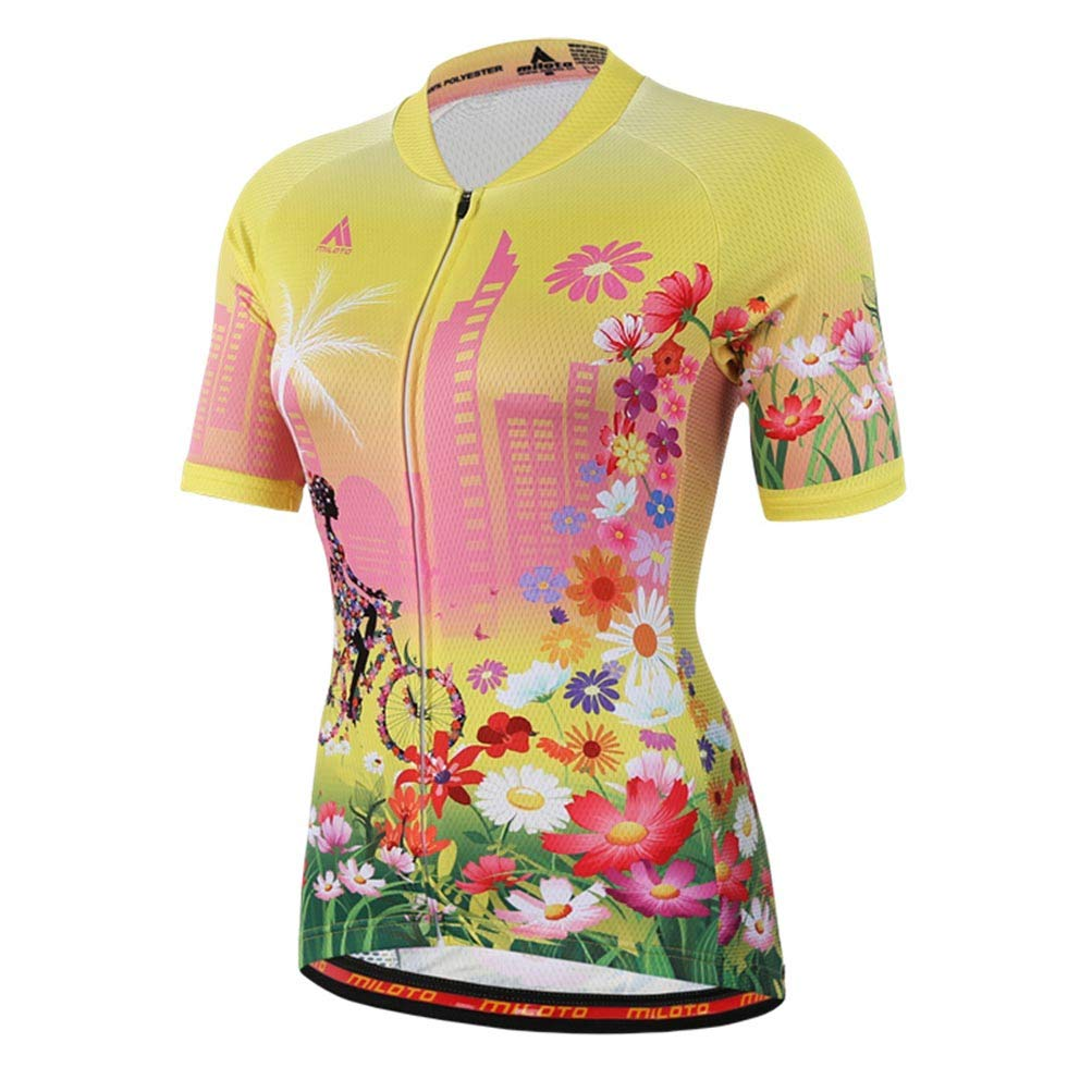 Uriah Women's Cycling Jersey Short Sleeve Reflective Happy Angel Size 5XL(CN) by Uriah