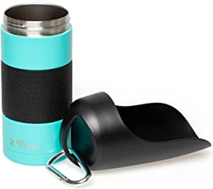 PetFusion Portable Dog Water Bottle (New; Large Dispenser, 22 oz). Insulated 2 Wall Stainless Steel for Optimal Cool Water Temp, Leak Proof, eco Friendly