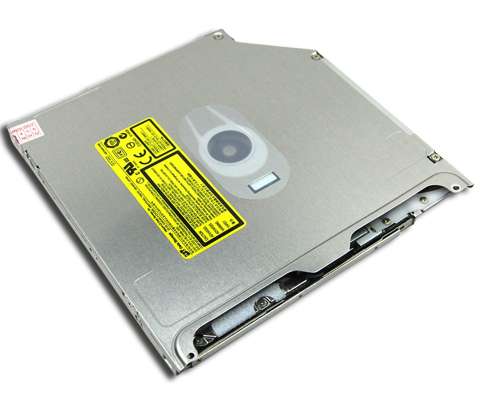 Genuine New for Apple Macbook Pro 13 15 Inch Laptop Internal 8X DL SuperDrive HL-DT-ST GS31N GS23N GS41N Double Layer DVD RW RAM Burner Super Multi 24X CD-R Writer 9.5mm SATA Optical Drive Replacement