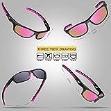 RIVBOS Polarized Sports Sunglasses for Women Men