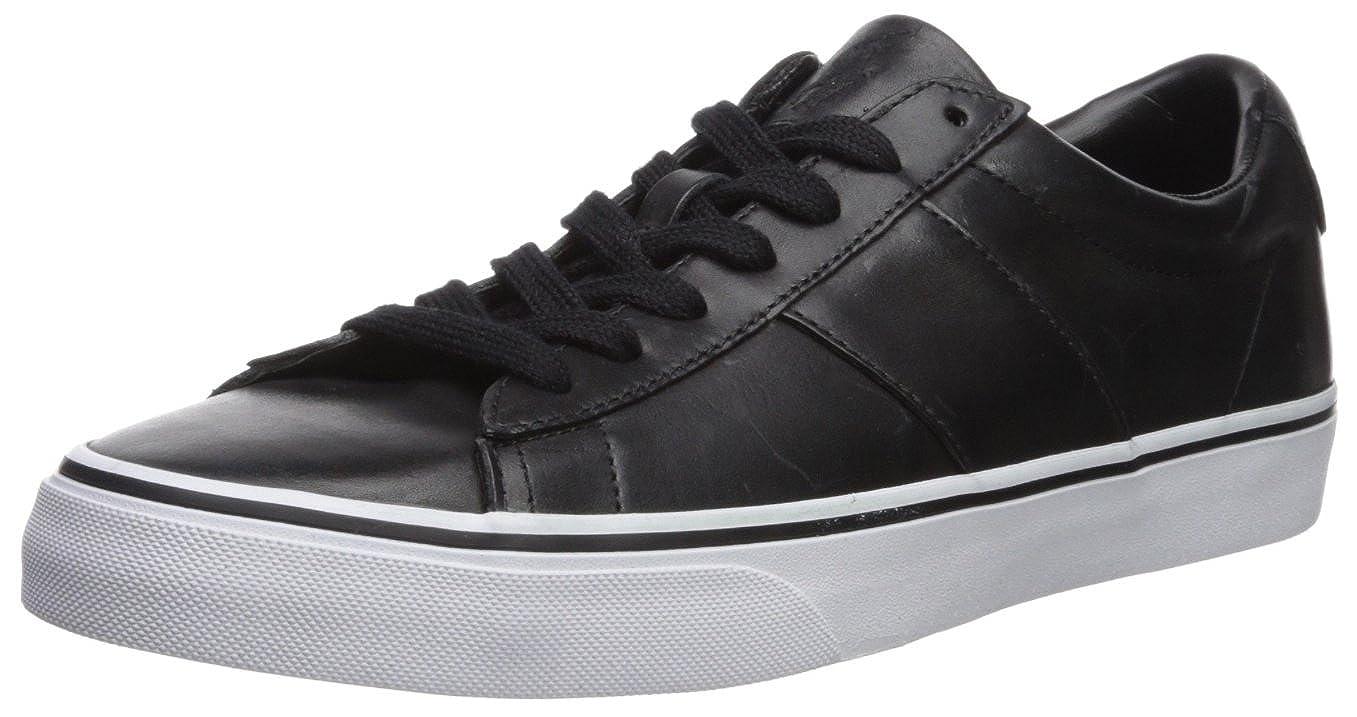 Ralph Lauren Herren Sayer Leder schwarz schwarz schwarz Schuhe 42 EU c2e40c