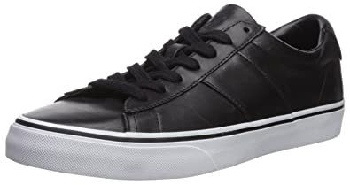 Polo Ralph Lauren Men\u0027s Sayer Sneaker, Black/Black, 7 D US