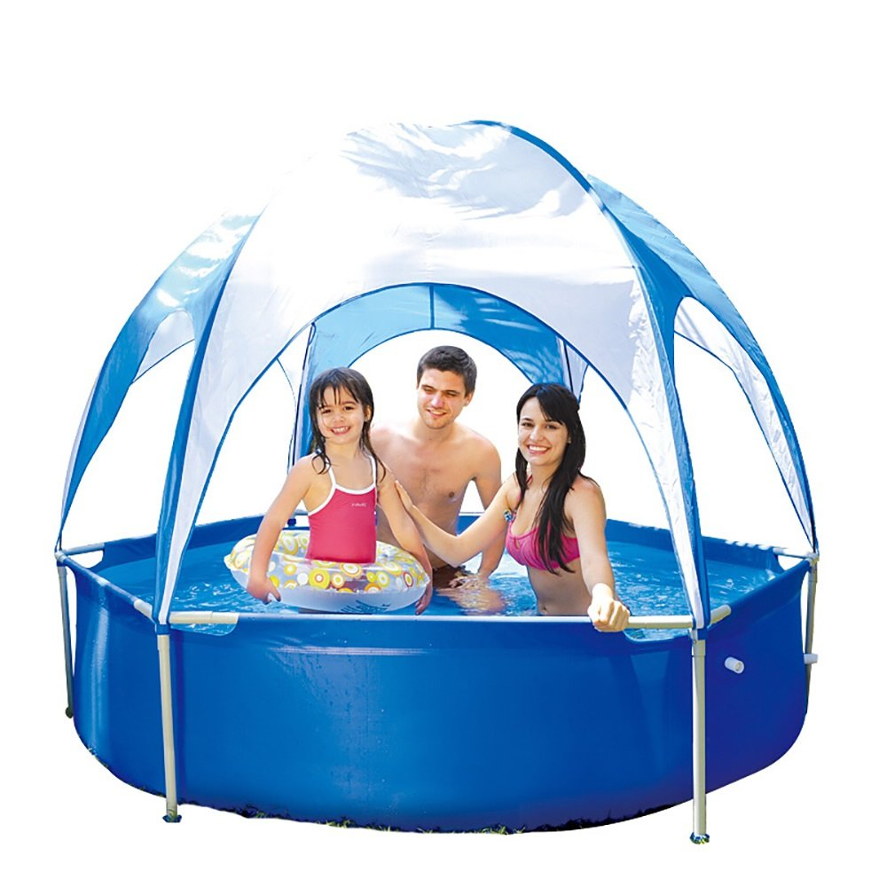PM YuGang Awning Family Pool Thickened Inflatable Pool(To Prevent Sunburn, Cool)