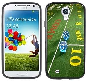 Craps Casino Handmade Samsung Galaxy S4 Black Bumper Hard Plastic Case by lolosakes