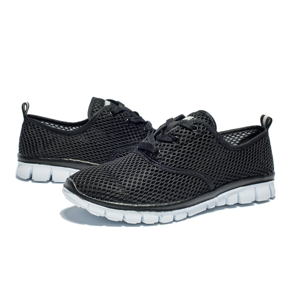 Saibhreas Men's Women's Sneakers Running Shoes Lightweight Mesh Sneakers Women's Breathable Casual B077G1SHH5 12US/46EU,MEN|18009-black d24170