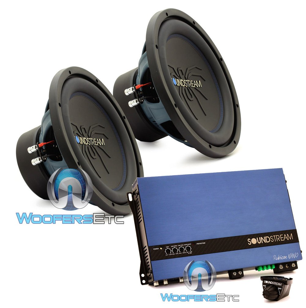 pkg Soundstream RUB.124 Pair 12'' 2000W Subwoofers + RN1.3000D Monoblock Amplifier