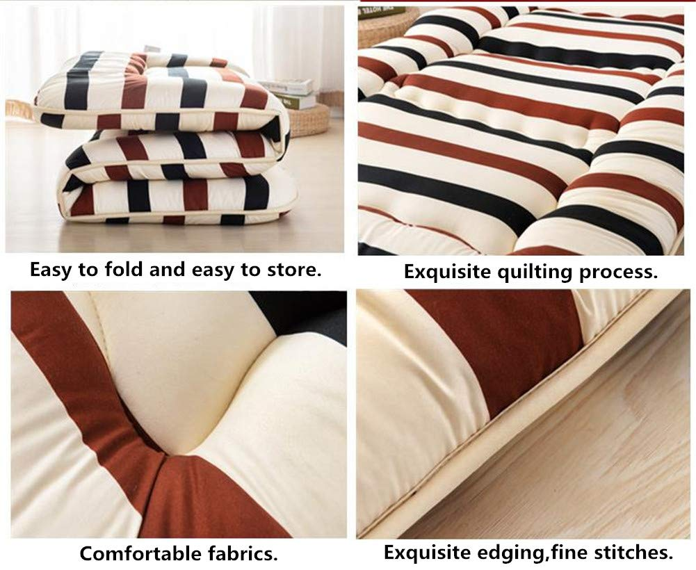 RYQS Japanese-style Foldable Tatami Floor mat,Single Double Thicken Mattress For Home Indoor Outdoor-A 90x200cm 35x79inch