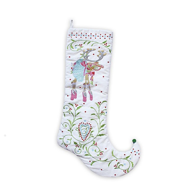 28'' Patience Brewster Krinkles Dash Away Dancer Decorative Christmas Stocking