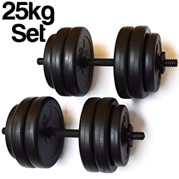 Deportes FXR 25 kg Levantamiento De Pesas Juego de mancuernas ajustables (con avanzada agarre)