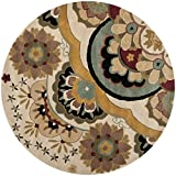 Safavieh Soho Collection SOH701A Handmade Ivory and Multi Premium Wool Round Area Rug (6′ Diameter) Review