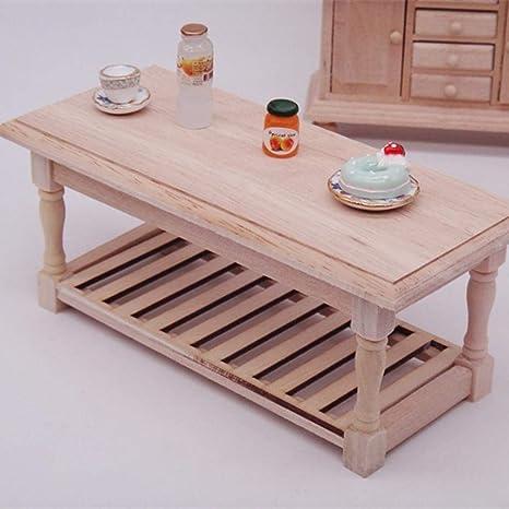 Dollhouse Miniature Furniture Tea Coffee Table Model landscape Toy/%