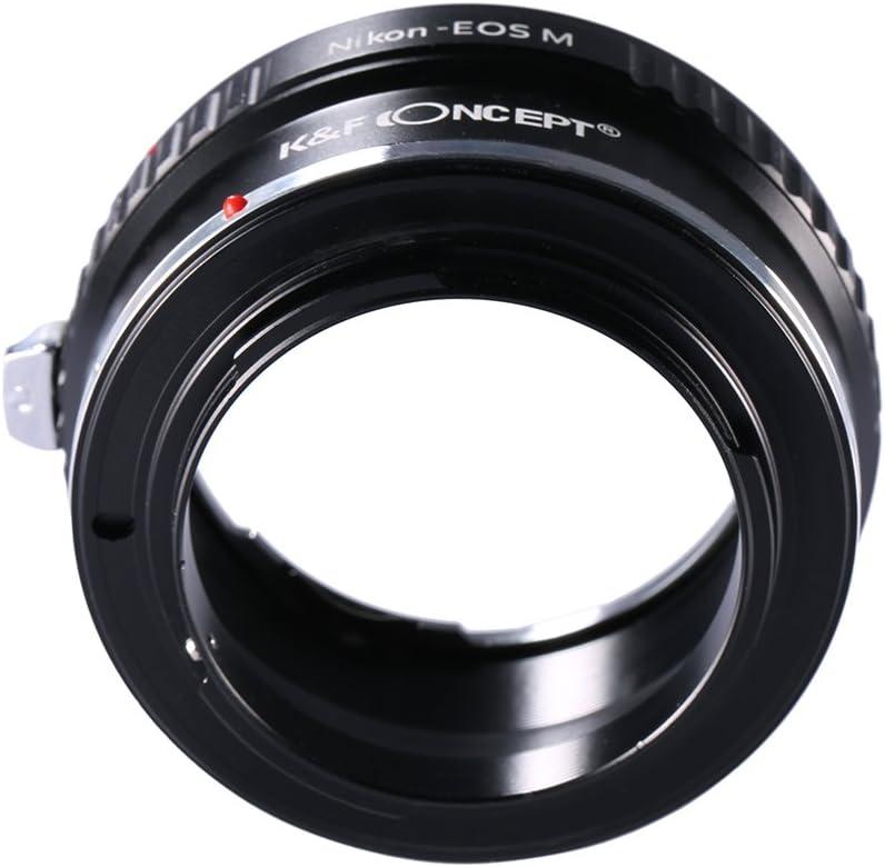 Ai EOSM /∞ abague adaptador de objetivo compatible Nikon AI a caja de Canon EOS M EOS-M adaptador metal 100/% enfoque a infinito Canon EOS M M3 M5 M10 etc.. adaptout marca francesa