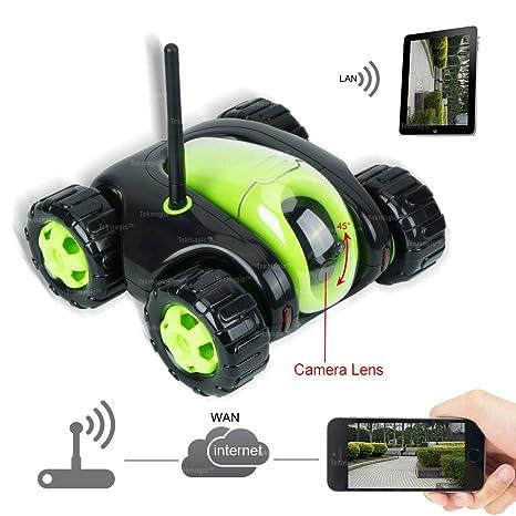 TEKMAGIC 8GB 1280x720P HD Red WiFi Cámara Espía Coche de Juguete Bidireccional Grabación de Audio y