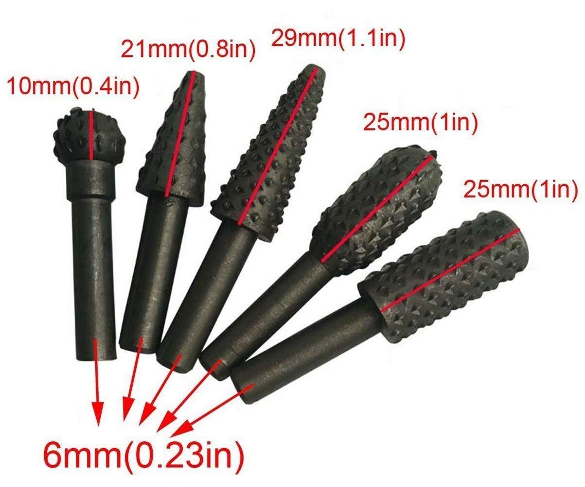 Feilen und Schnitzen von Holz Polieren Freihandfr/äser-Set Formen Raspelsatz f/ür die Holzbearbeitung zum Schleifen