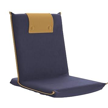 bonVIVO Easy III - Chaise de méditation rembourrée Poignet intégré, Dossier réglable, Chaise Pliable Polyvalente, Chaise de Sol pour Yoga, Maison, Bureau, extérieur, Chaise de Plage Confortable