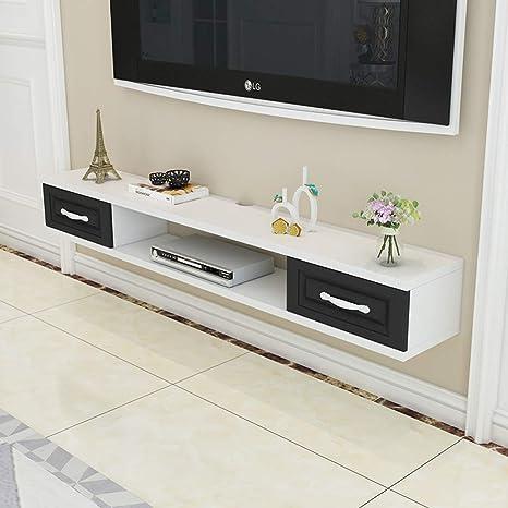 Mueble de Tv Montado en la Pared Consola de Tv Soporte para Tv con Cajón, Sala