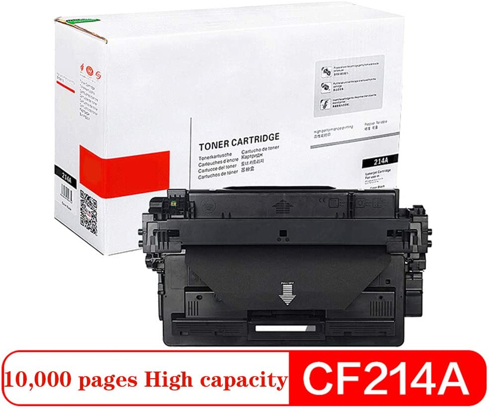 for HP700 M712n M712dn M712xh M725dn M725f M725z Printer Black Large Capacity Print Clear Office Supplies Print 10,000 pages-CF214A10000pages Compatible Cartridge Replacement for CF214A CF214X
