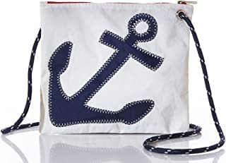 product image for Slim Navy Anchor Cross Body Bag