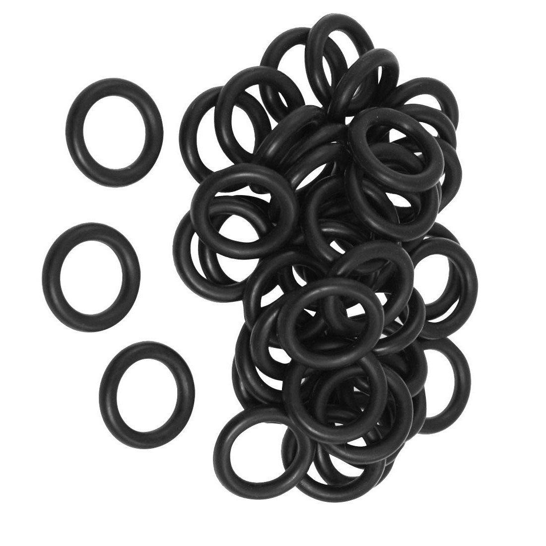 R SODIAL 16 mm x 3 mm Schwarz Nitrilkautschuk O Ring NBR Dichtungen Dichtungen 50 Stueck O-Ringe