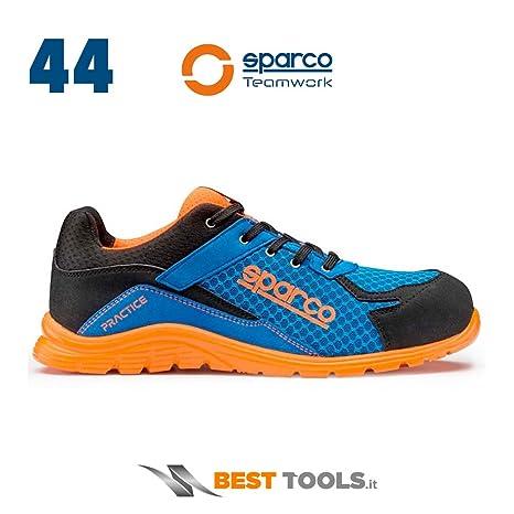 Sparco 0751744AZAF Zapatillas, Azul/Naranja