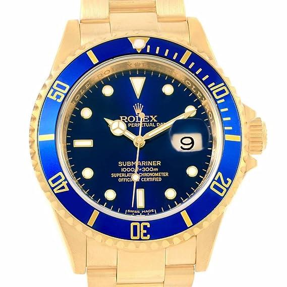 Rolex Submariner 16618 - Reloj automático para hombre (certificado de presencia)
