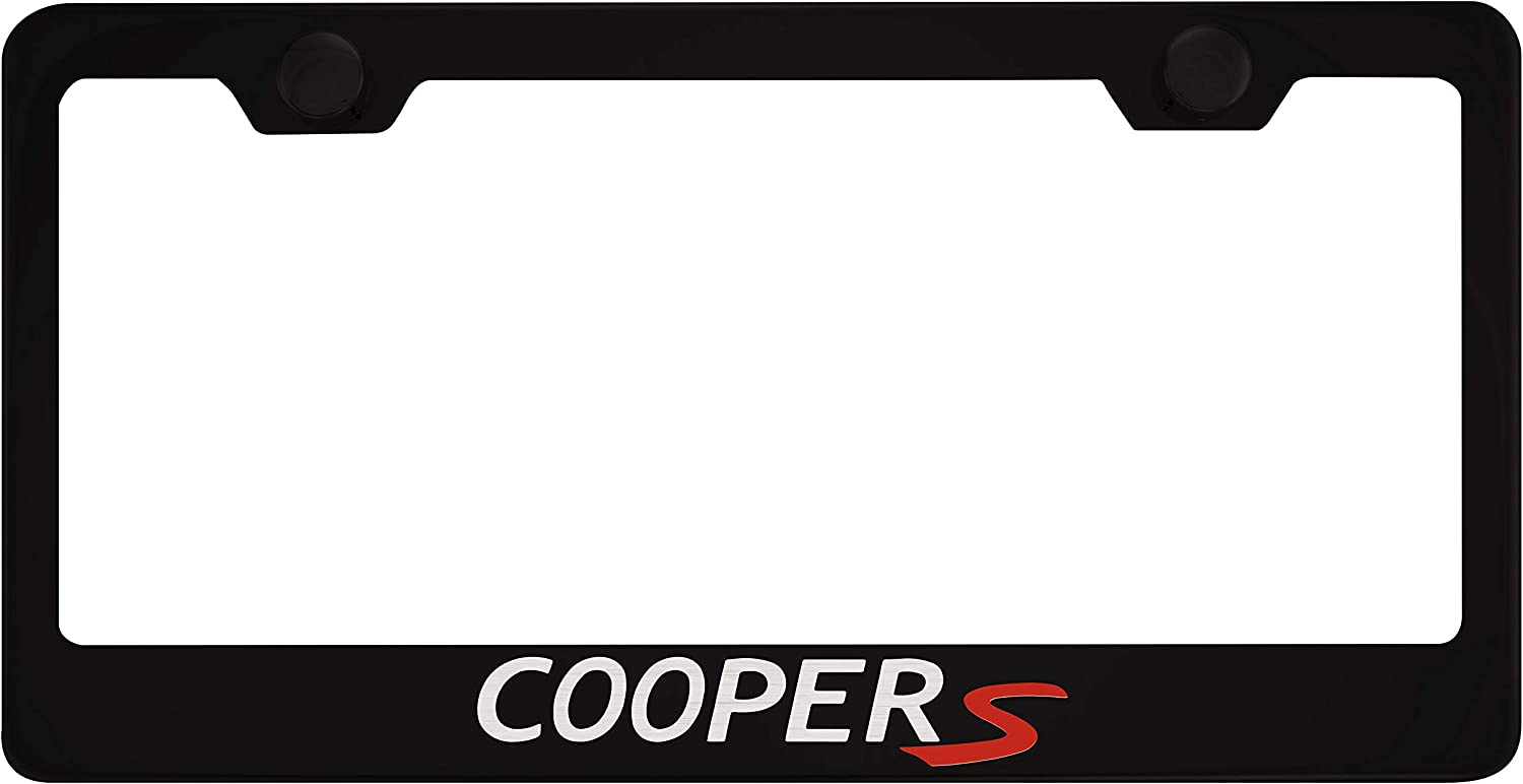 Stainless Steel Fit Mini Cooper S Chrome License Plate Frame with Cap