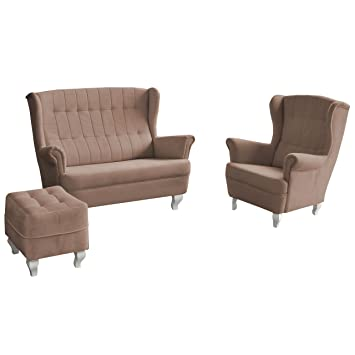 Polstergarnitur Windsor Sofa, Einzelsessel, Hocker, Modernes Couch ...