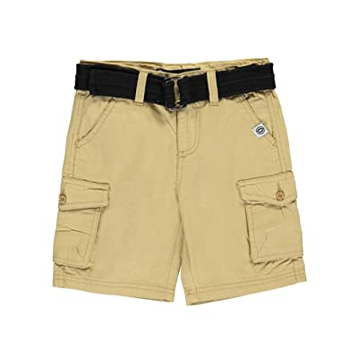Akademiks Little Boys'Gridded Flaps Belted Cargo Shorts