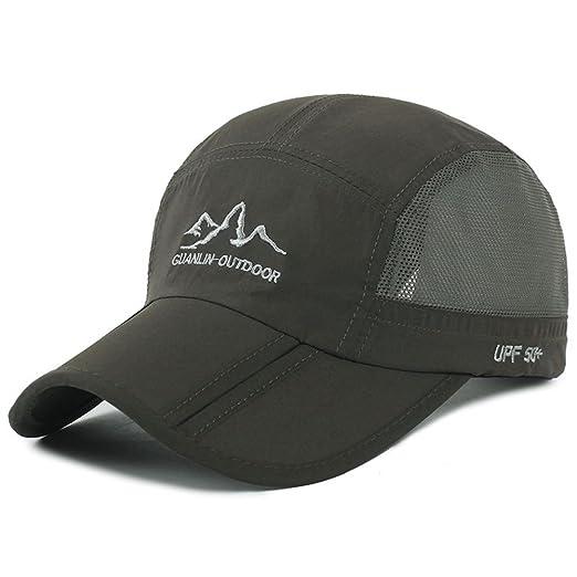 fa7b5be74 Estwell Outdoor Quick Dry Long Brim Foldable Sun Hat Low Profile Baseball  Cap