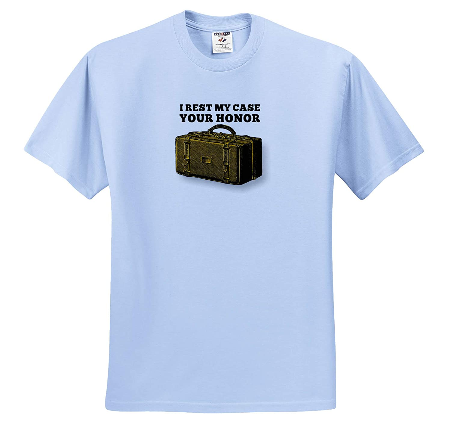 I Rest My Case Your Honor T-Shirts 3dRose Russ Billington Designs Funny Play On Words