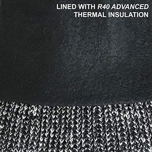 Manteau Noir Doublure Marl Enjoliveur avec Molleton Marl Thermique R40 en RockJock Bobble 1tUSxqq