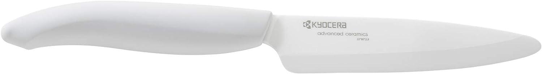 Kyocera Advanced Ceramic Revolution Series 4.5-inch Utility Knife, White Handle, White Blade