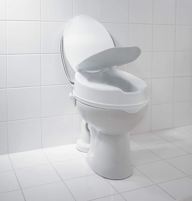 RIDDER WC-Erh/öhung mit Deckel wei/ß