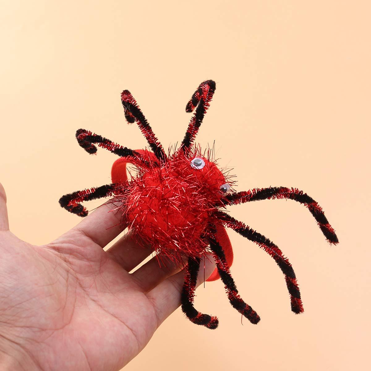 Red LUOEM Halloween Costume Spider Headband Scare Spider Dress Up Accessory Halloween Cap