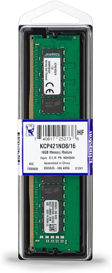 1 x 16GB DDR4-2133 Desktop Memory KCP421ND8//16 PC4-17000 Kingston 16GB
