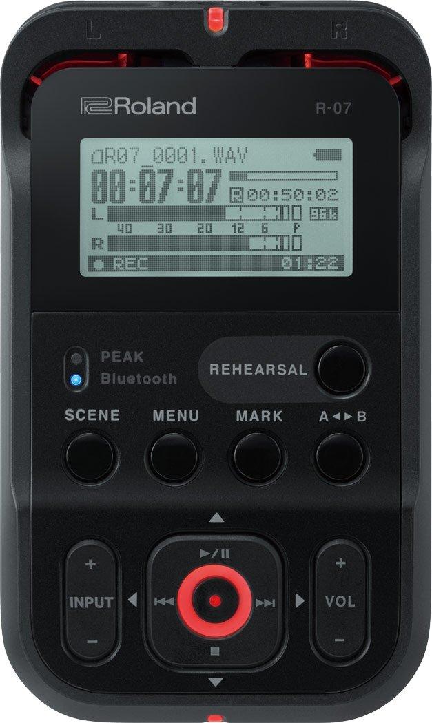 Roland High-Resolution Handheld Audio Recorder, black (R-07-BK)