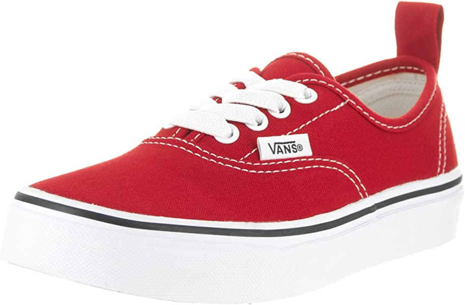 4b5d7ac0fb26 Vans Kids Authentic Elastic Lace Red White Skate Shoe 1.5