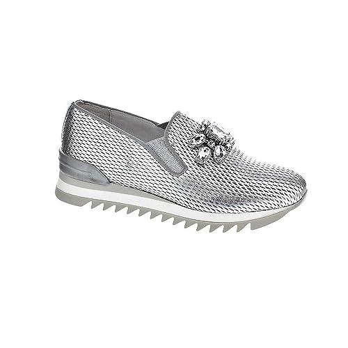 Alpe 33066841 - Mocasines Mujer Plata Talla 37: Amazon.es: Zapatos y complementos