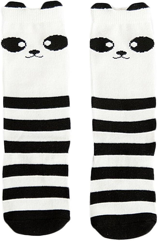 Unisex Baby Toddler Socks,4//9//12 Pairs Cotton Knee High Animal Pattern Socks
