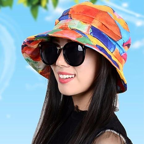 QIER-MZ Casquillo De Las Mujeres Casquillo Plegable del Verano del Resorte  Sombrero Ocasional Sombrero d606d6e1cb5
