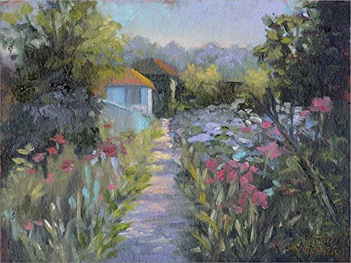 Monet's Garden V by Mary Jean Weber Laminated Art Print, 24 x 18 inches
