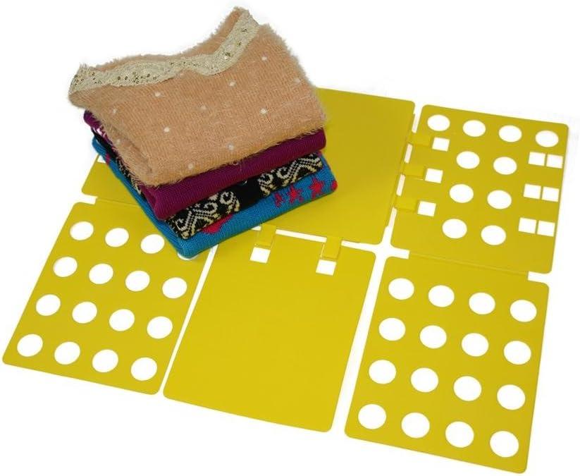 Glield Doblador de Ropa para Camisas Camisetas Pantalones Toallas Polo DYB01 (Amarillo): Amazon.es: Hogar