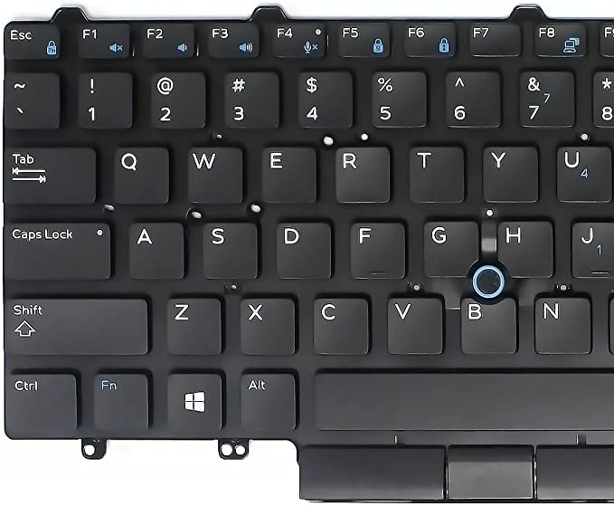 Keyboards4Laptops UK Layout Backlit Black Laptop Keyboard Compatible with Dell Latitude 7390 Dell PK132EQ2B15